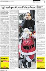 Porträt der Zürichsee Zeitung vom 6. Dezember 2010 über den Schweizer Kinderbuchautor Sämi Weber und sein Musical für Chind «Bim Samichlaus dihei».