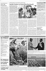 Artikel aus dem Tössthaler vom 20. November 2014. Sandra Studer zu Besuch bei Buchtaufe.
