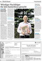 Würdiger Nachfolger für den Samichlaus gesucht. Artikel in der ZürichseeZeitung vom 25. November 2014. Seite 4.