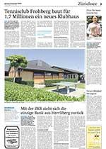 Artikel der Zürichsee Zeitung über die Geschichte «Samichlaus der alte Mann» des Erlenbacher Autors Sämi Weber, die von der Vereinigung zur Förderung Schweizer Jugendkultur mit dem «Goldige Chröndli» 2015 als beste Geschichte ausgezeichnet wurde.